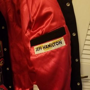 Jeff Hamilton Jackets & Coats - Rare Jeff Hamilton Leather NBA Logo Jacket